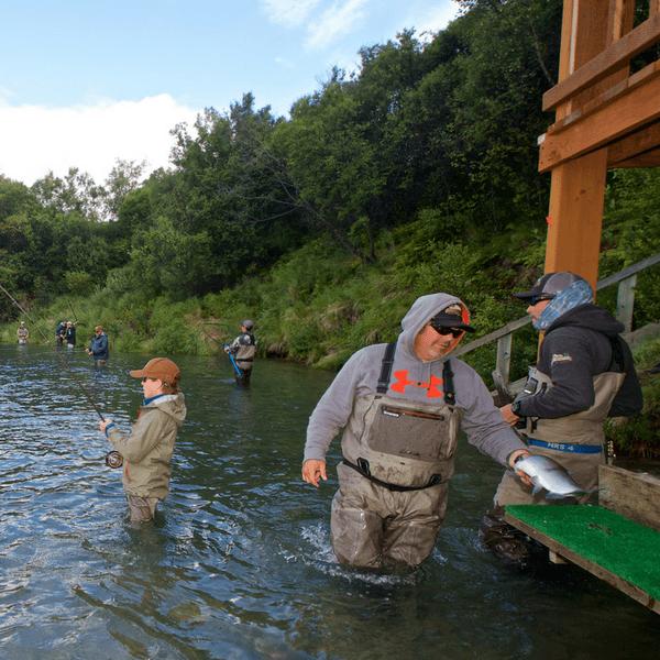 Fishing at the Newhalen River Gorge